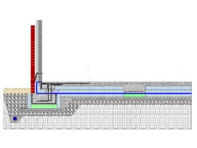 Monobeam section Brick & Block